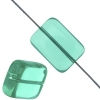 Glass Bead Bricks 16x12mm Blue Zircon - Strung